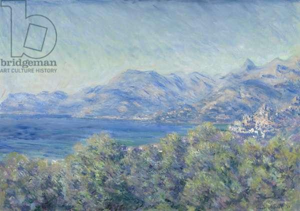 View of Ventimiglia, 1884 (oil on canvas)