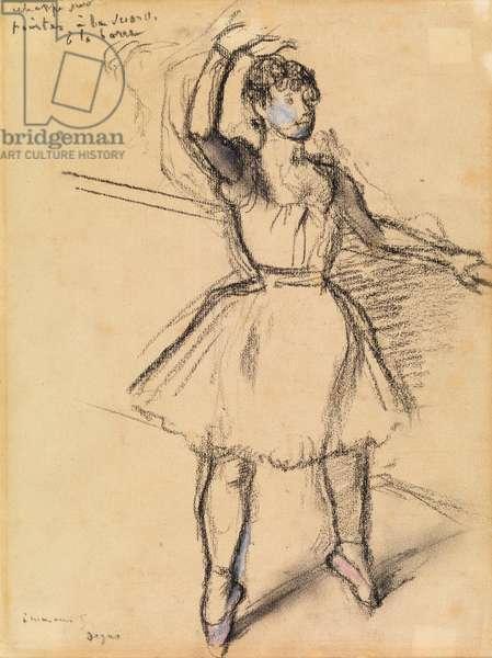 The Little Dancer, c.1885 (chalk on paper)