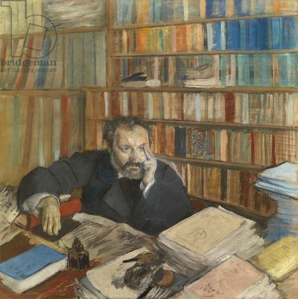 Portrait of Edmond Duranty, 1879 (tempera, w/c & pastel on linen)