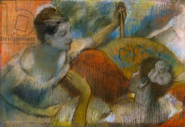 Danseuse a l'Eventail, c.1883-86 (pastel on paper)