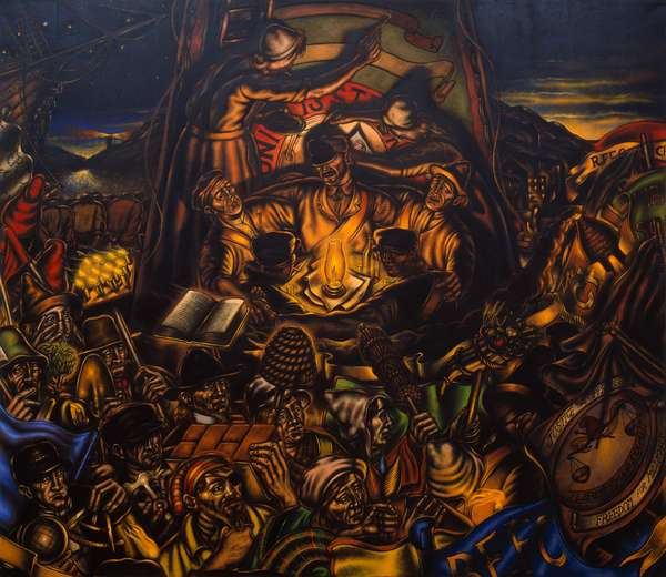 Great Reform Agitation: Unity is Strength, 1987 (oil on canvas)