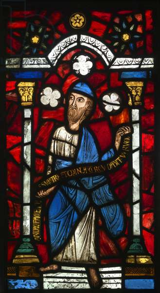 Prophet Jeremiah, c.1140-45 (stained glass)