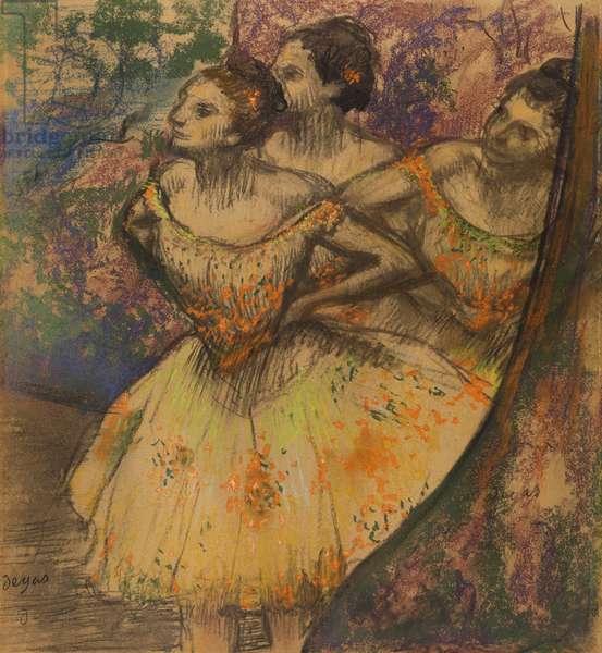 Les Trois Danseuses, c.1896-1905 (pastel on paper)