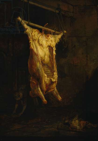 The Carcass of an Ox, late 1630s (oil on panel)