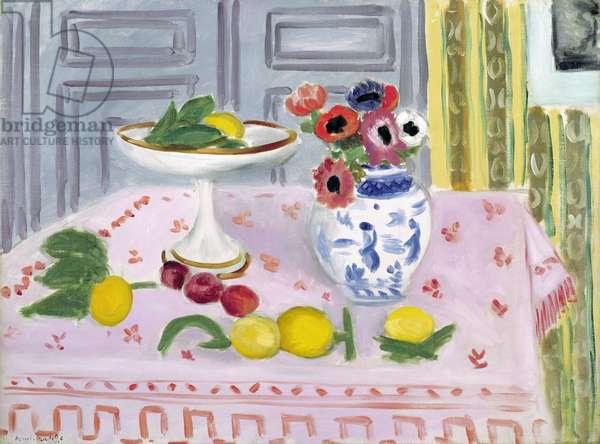 The Pink Tablecloth, 1925 (oil on canvas)