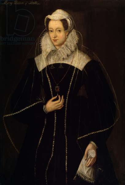 Mary (1542-87) Queen of Scots (oil on panel)