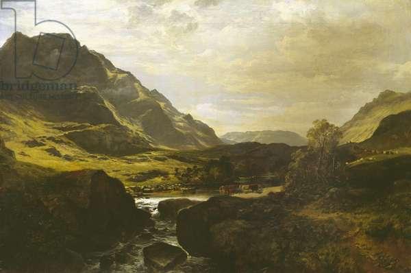 In Glen Massan, 1856 (oil on canvas)
