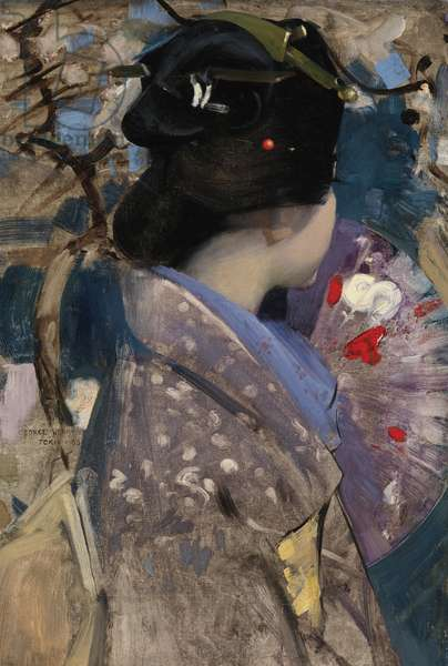 Japanese Lady with a Fan, 1894 (oil on canvas)