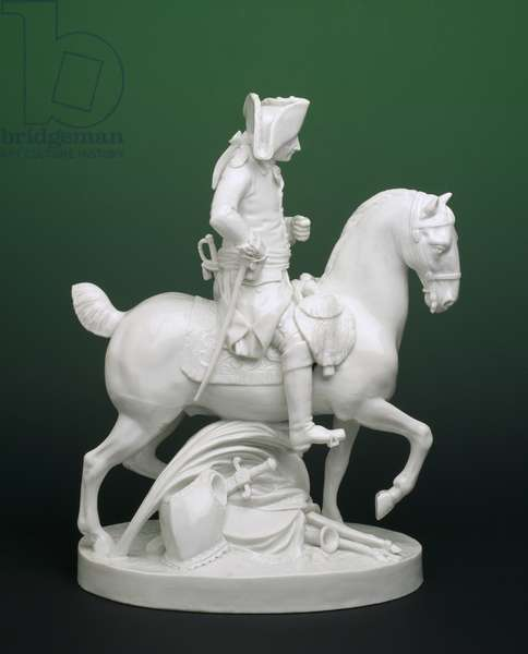 Figurine of Frederick the Great on a Horse, from Ludwigsberg (glazed porcelain)