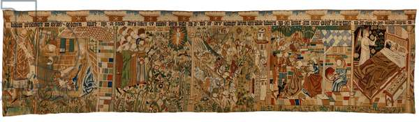 Tapestry strip depicting the Prophet Balaarm and the Story of the Magi, from Middle Gemany, 1450-75 (wool, gold & silver thread)