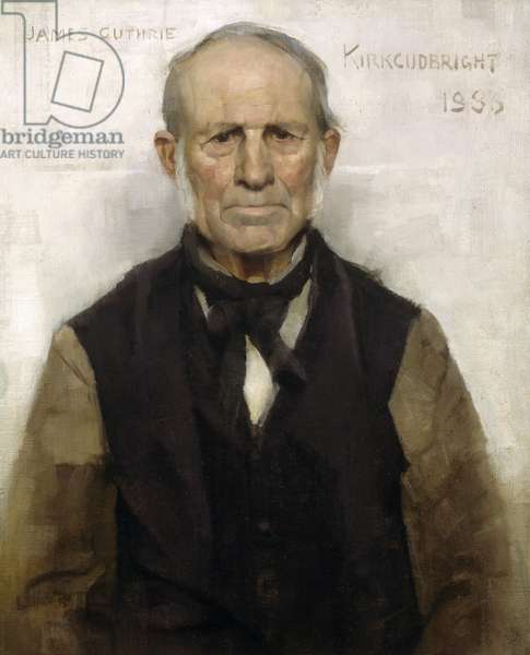 Old Willie - The Village Worthy, 1886 (oil on canvas)