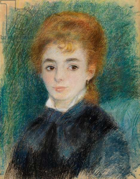 Lady with Auburn Hair, c.1875-78 (pastel on toothed paper)