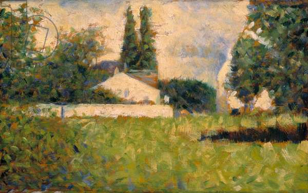 House among trees / Maison dans les Arbres, c.1883 (oil on panel)