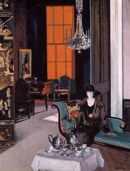Interior: The Orange Blind, c.1928 (oil on canvas)
