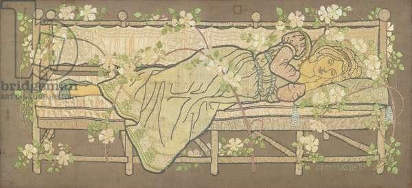 Sleeping Beauty (silk embroidery)