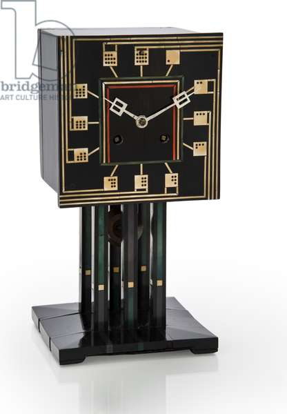 Domino Clock, c.1917 (ebonised wood with ivory and plastic inlay)