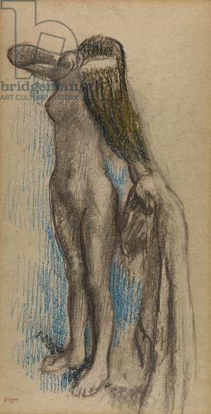 Femme se Coiffant, c.1887-90 (charcoal and crayon on paper)