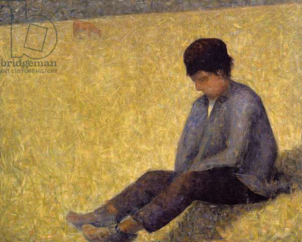 Boy Sitting on the Grass, c.1882 (oil on canvas