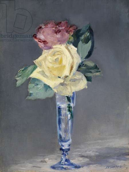 Roses in a Champagne Glass, c.1882 (oil on canvas)