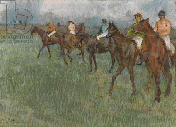 Jockeys in the Rain, c.1886 (pastel on paper)
