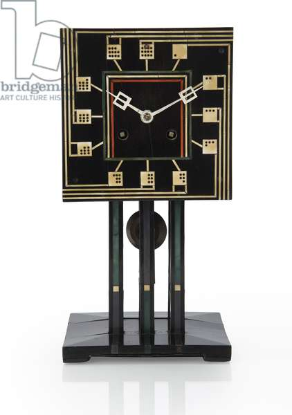Domino Clock, 1917 (ebonised wood with ivory and plastic inlay)