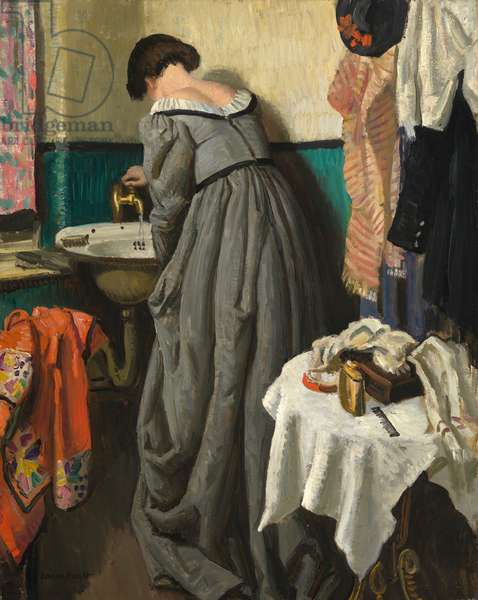 A Theatre Dressing Room, c.1935 (oil on canvas)