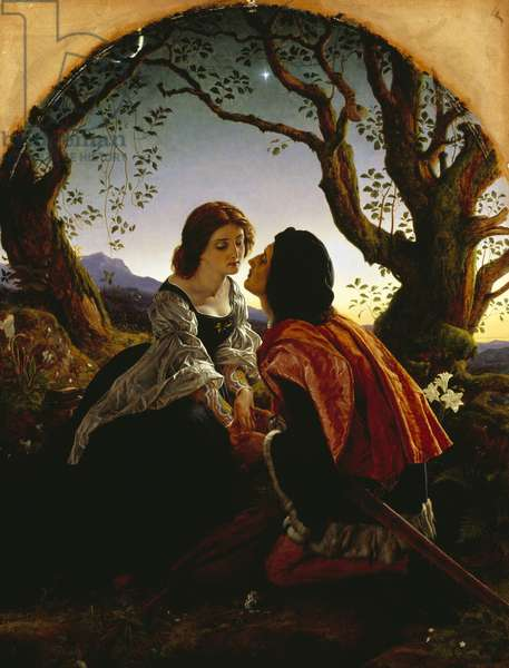 Hesperus, the Evening Star, Sacred to Lovers, 1855 (oil on millboard)