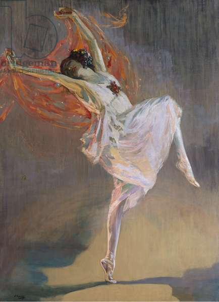 Anna Pavlova, 1910 (oil on canvas)