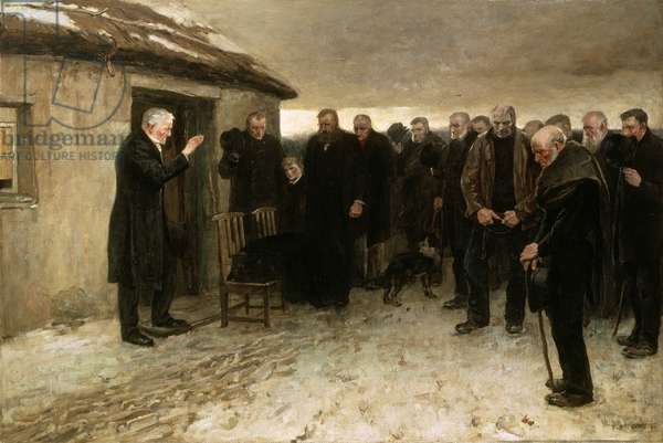 A Highland Funeral, 1882 (oil on canvas)