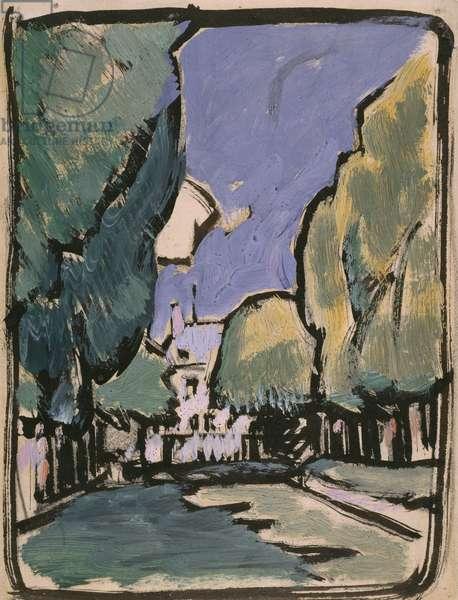 Landscape (oil on paper)