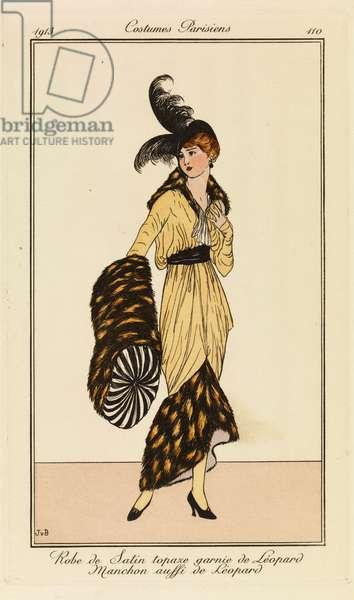 Plate 110 from 'Costumes Parisiens', 1913 (pouchoir print)