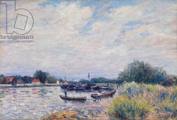 The Loing at Saint-Mammes, c.1859-99 (oil on canvas)