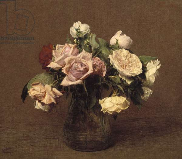 Roses 'La France', 1895 (oil on canvas)