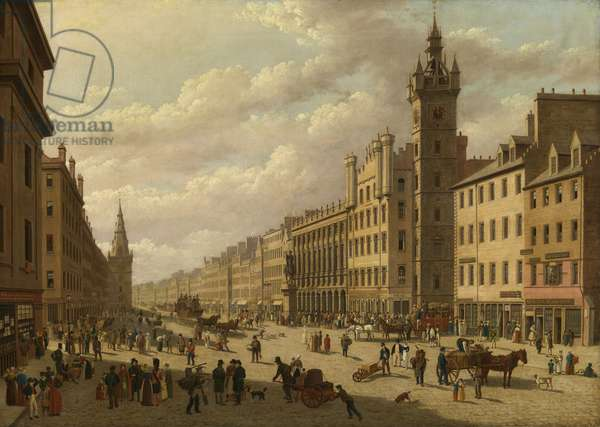 The Trongate, Glasgow, 1826 (oil on canvas)