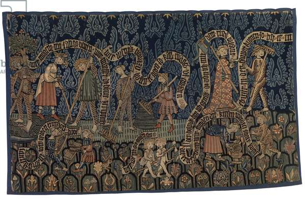 Tapestry illustrating the month of July, c.1400-25 (wool and linen)