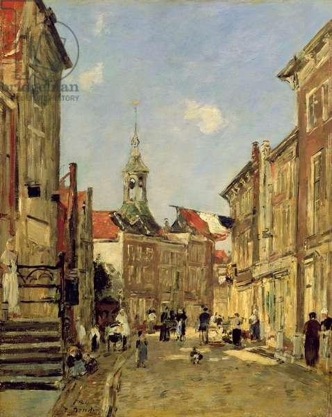 The Rue de Dordrecht, 1884 (oil on panel)