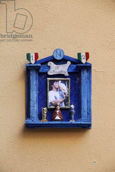 Maradona shrine in Naples, Naples, Italie