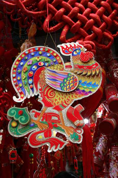 Chinese new year. Rooster. Shanghai Shanghai China
