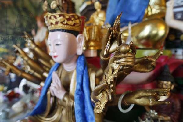 Tu An Buddhist temple ; Buddha statue ; Saint-Pierre-en- Faucigny France