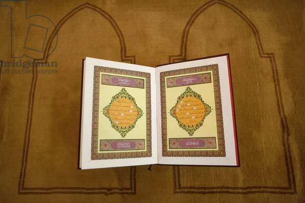 Open koran (first page) Geneve Suisse