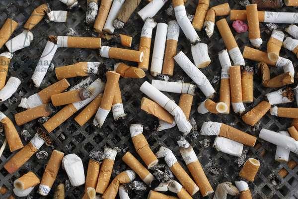 Cigarette butts, Frankfort, Allemagne