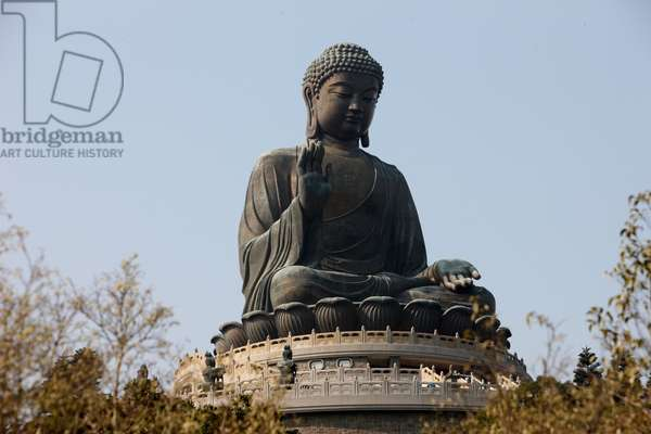 Po Lin Monastery. Statue of the Buddha, the largest in Asia. Tung Chung China