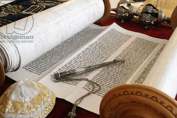 Torah scroll and Yad, Torah pointer, Paris, France