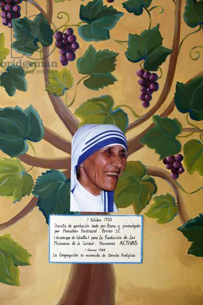 Mother Teresa painting & collage Madrid Spain