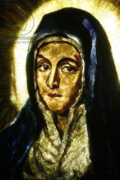 Mater Dolorosa (detail) by el Greco, Lourdes, France