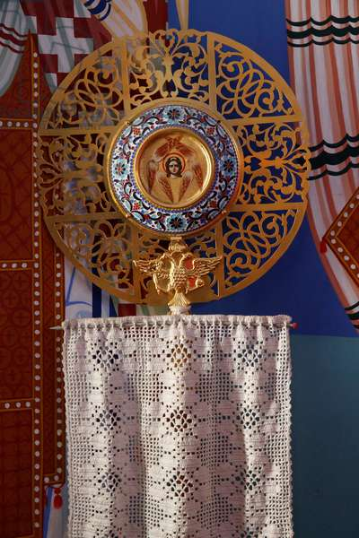 Liturgical object in the sanctuary of Pedoulas orthodox church, 20150510, Pedoulas, Cyprus