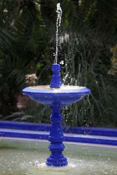 Majorelle Gardens, Blue fountain, Marrakech, Morocco