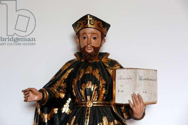 Brazil, Bahia, Salvador : Sao Domingos's chuch - Statue of Saint Augustine (19th century