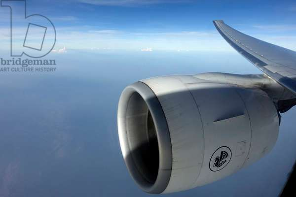 Air France Airplane Boeing 777 in the sky, (photo)