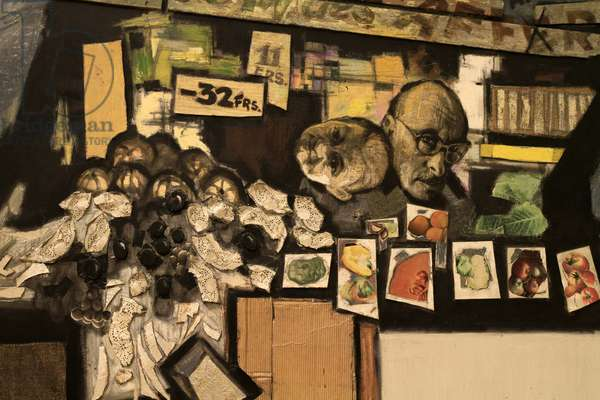 Self-Portrait with Wife. 1992. Oscar Rabin. Born 1928 (oil and mixed media on canvas)